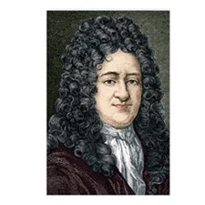 Gottfried Leibniz, German Postcards (Package of 8)