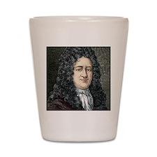 Gottfried Leibniz, German mathematician Shot Glass