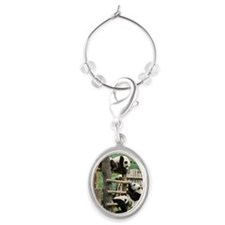 Giant panda, China Oval Wine Charm