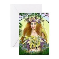 Spring Maiden Greeting Cards (Pk of 10)