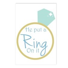 He put a ring on it Postcards (Package of 8)