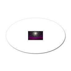 Globular cluster, artwork 20x12 Oval Wall Decal