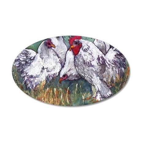 chickens come home to roost 35x21 Oval Wall Decal