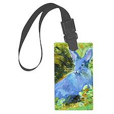 Blue Bunny Luggage Tag