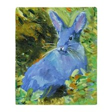 Blue Bunny Throw Blanket