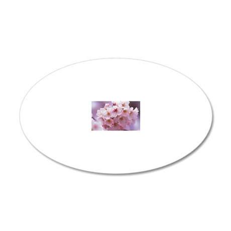 Cherry Blossom 20x12 Oval Wall Decal
