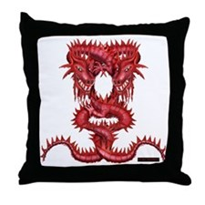 Cute Dragon art Throw Pillow