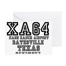 TEXAS - AIRPORT CODES - XA64 - NASH  Greeting Card