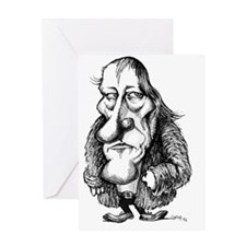 Georg Hegel, caricature Greeting Card