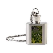 Garden flowers Flask Necklace