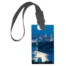 Full Moon over Vancouver Luggage Tag