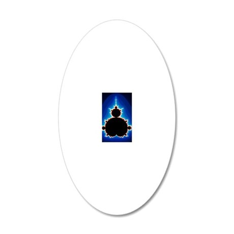 Fractal geometry showing Man 20x12 Oval Wall Decal