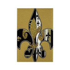 Fleur de lis bling Rectangle Magnet
