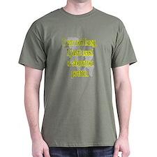 Lazy Stamina Potion Military Green T-Shirt