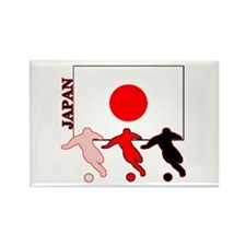 Japan Soccer Rectangle Magnet (100 pack)