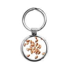 Flax seeds Round Keychain