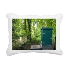Flood monitor, UK Rectangular Canvas Pillow