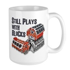 Still Plays With Blocks Mugs
