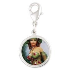Woodland Nymph Silver Round Charm