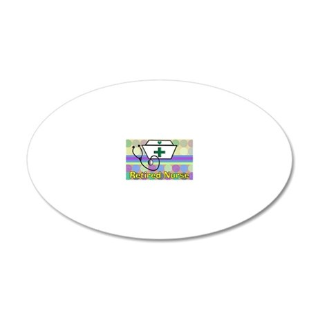 retired nurse serving tray b 20x12 Oval Wall Decal
