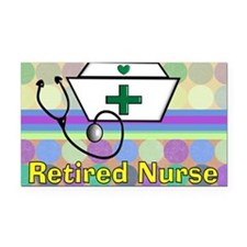 retired nurse serving tray bl Rectangle Car Magnet
