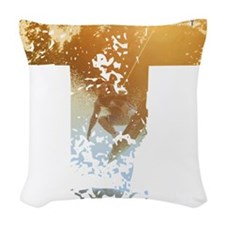 Wakeboard T Woven Throw Pillow