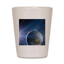Extrasolar Earth-like planet, artwork Shot Glass