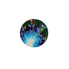Explosion of Sarin nerve gas molecules Mini Button