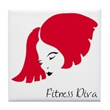 Fitness Diva Tile Coaster