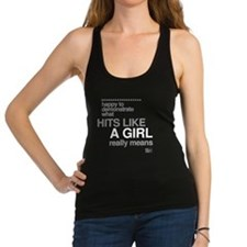 Hit Like a Girl Racerback Tank Top