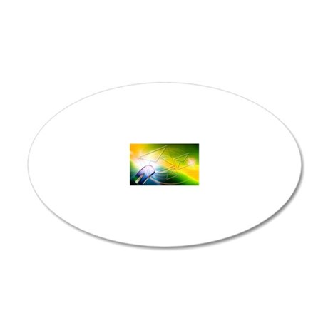 Email, conceptual artwork 20x12 Oval Wall Decal