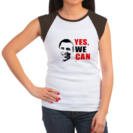 Obama Yes, We Can Womens Cap Sleeve T-Shirt