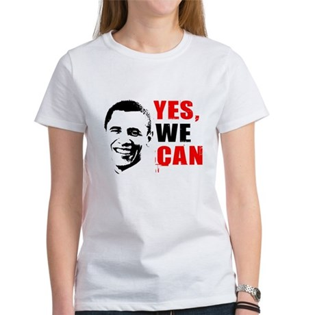 Obama Yes, We Can Womens T-Shirt