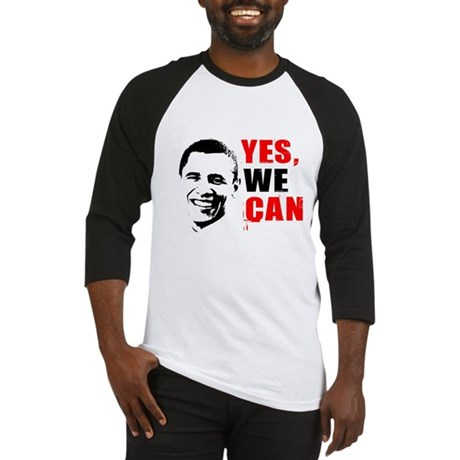 Obama Yes, We Can Baseball Jersey