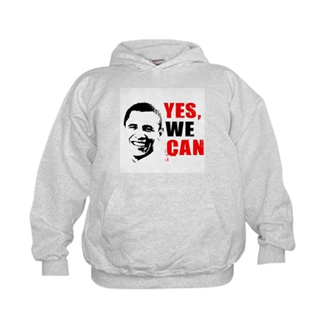 Obama Yes, We Can Kids Hoodie