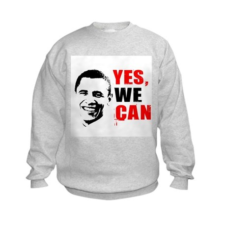 Obama Yes, We Can Kids Sweatshirt