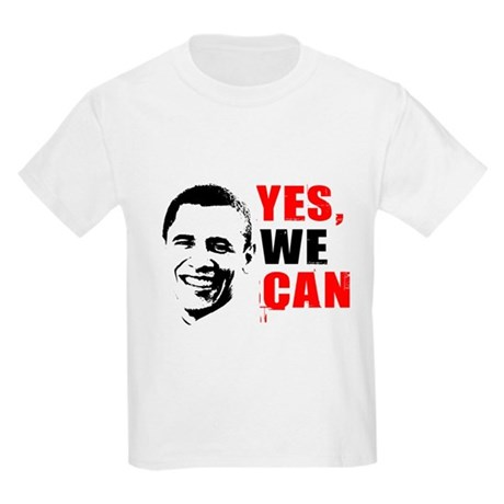 Obama Yes, We Can Kids Light T-Shirt
