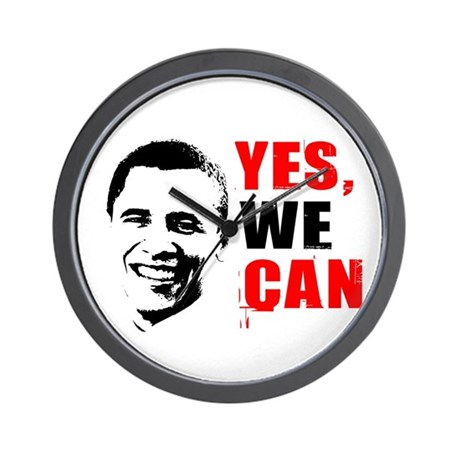 Obama Yes, We Can Wall Clock