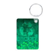 Electronics recycling, art Keychains