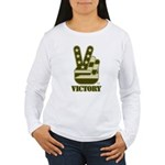 Victory Sign Women's Long Sleeve T-Shirt