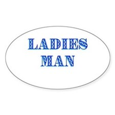 Ladies Man Oval Decal