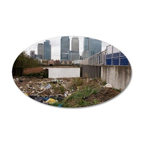 Dumped rubbish 35x21 Oval Wall Decal