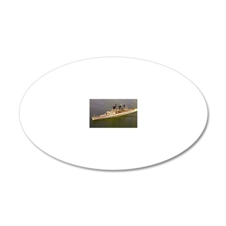 uss springfield large framed 20x12 Oval Wall Decal