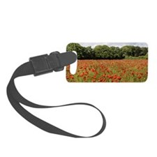 Poppy Field Small Luggage Tag