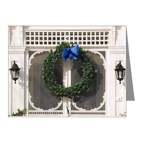 Christmas decorations on ext Note Cards (Pk of 10)
