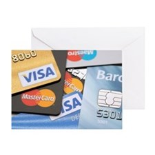 Credit cards Greeting Card
