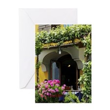 Balcony with flowers and plants Greeting Card