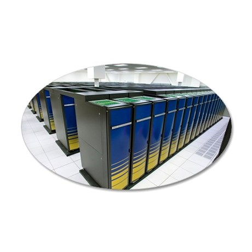 Cray XT4 supercomputer clust 35x21 Oval Wall Decal