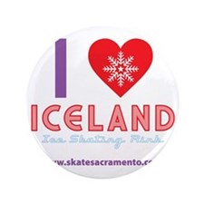 "I LOVE ICELAND tote 3.5"" Button"