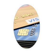 Credit cards Oval Car Magnet
